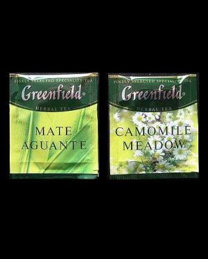 GREENFIELD MATE AGUANTE AND CAMOMILE MEADOW HERBAL TEA