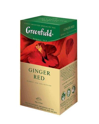 GREENFIELD TEA GINGER RED HERBAL TEA