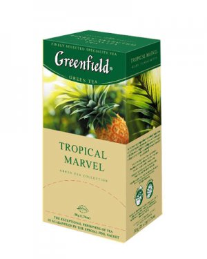 GREENFIELD TEA TROPICAL MARVEL GREEN TEA