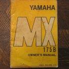 75 YAMAHA MX175 MX175B MX 175B 175 B OEM ORIGINAL DRIVER'S OWNER'S MANUAL