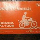 83 HONDA XL100S XL100 S XL 100S 100 ORIGINAL NOS OEM DRIVER'S OWNER'S MANUAL