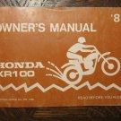 81 HONDA XR100 XR 100 ORIGINAL OEM NOS DRIVER'S OWNER'S MANUAL