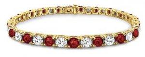 18k Gold Diamond and Ruby Tennis Bracelet (3 ct. tw.)