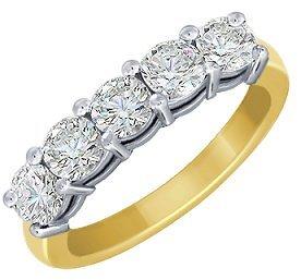 14k Gold Five-Stone Diamond Band (I/H-I, 1/3 ct. tw.)