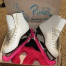 Vintage Riedell Women's Skating Shoes 220W - Size 6 1/2 White Sheffield Blades