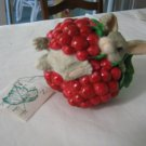 1997 Handcrafted Silvestri BY DEAN GRIFF - I'm Berry Happy Ornament - Rabbit
