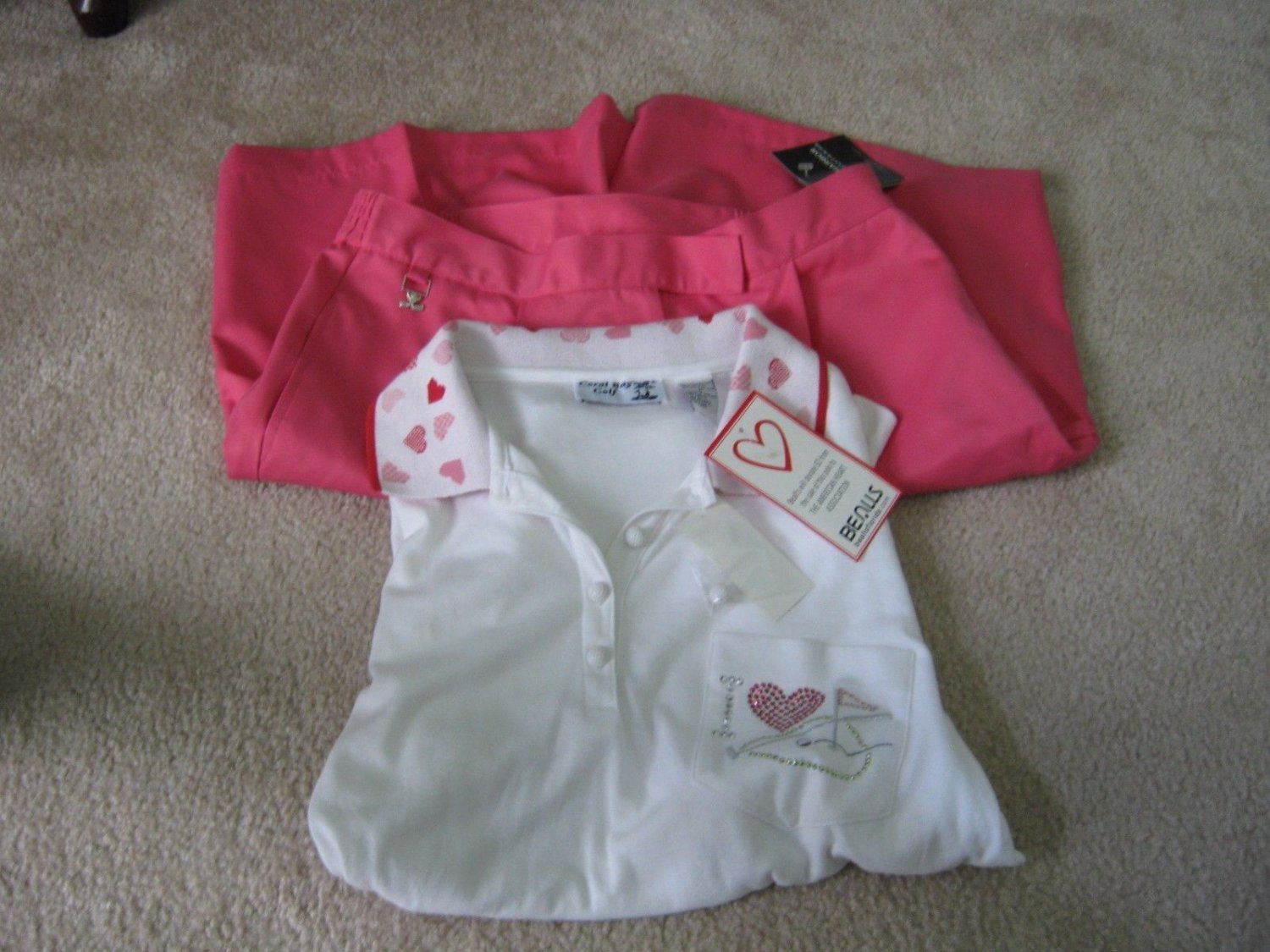 Sag Harbour Sport Shorts (Size 12) and Coral Bay Golf Short Sleeve Top (Size M)