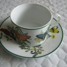 National Wildlife Federation Cup and Saucer Mixed Set Butterflies and Birds