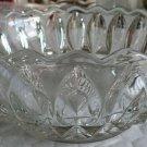 "Indiana Glass 1007 Clear Teardrop 9 1/2"" Flared Scalloped Edge Heavy Bowl"