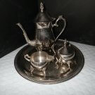 International Silver 4-Piece  Silverplate Hollowware Coffee / Tea Set