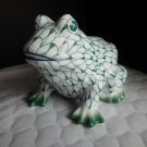 "Sadek Figurines Andrea Hand Painted 4"" Green Fishnet Frog - No Box Made in Thail"