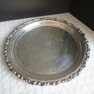 "Silverplate 12""  Round Serving Tray"