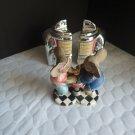 Salt and Pepper Shakers 2 Sets Malt Shop - Hamilton Collection Peanut Pals and V