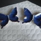 Pair of Blue Butterfly Trinket Dishes