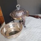 Poole Silver Old English Chafing Dish W/Lid, Liner, Stand & Burner Old English (