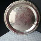 "Leonard Silver Mfg Company 12"" Round Tray (Silverplate, Hollowware) Gadroon Edge"