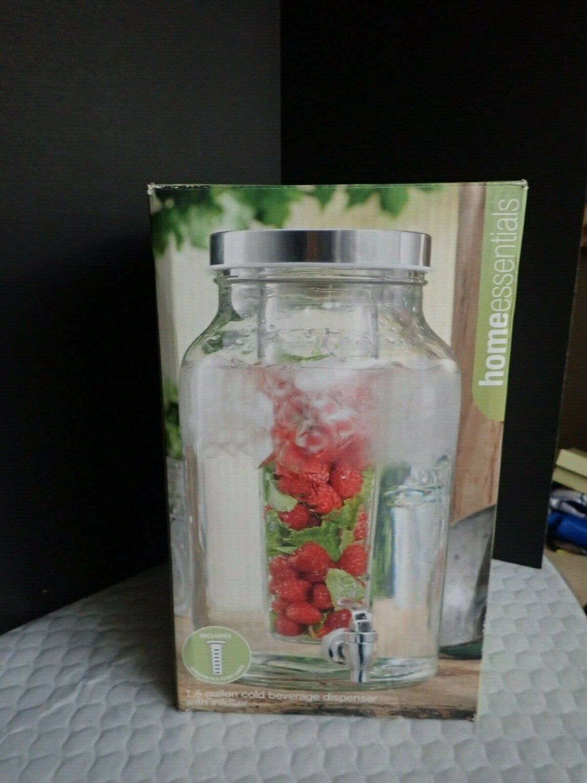 Home Essentials & Beyond Del Sol 1.5 Gallon Cold Beverage Dispenser w/Fruit Infu