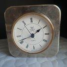 "International Silver Company Silverplated 4"" X 4"" Quartz Working Clock"