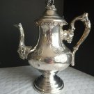Coffee Pot Silverplated Marked 5 / 960 Grapes Finial Vines