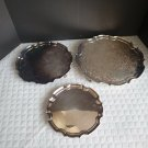 """James Dixon and Sons Sheffield Electroplate Nickel Silver  3 Piece 8"""", 10"""" & 12"""""""