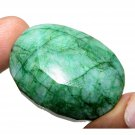252.55Cts Big Size Natural Oval Cut Room Show Piece Emerald Gemstone  CH 4776