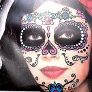 Day Of The Dead Temporary Face Tattoo Skull