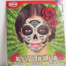 Glitter and Fans Day Of The Dead Temporary Face Tattoo Skull