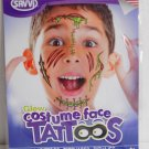 Glow in the Dark Monster Costume Face Temporary Tatoos