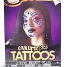Goth Witch Costume Face Temporary Tattoos