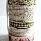 5 Bundled Rolls of Country Style Ribbon 15 yards