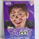 Glow in the Dark Werewolf Costume Face Temporary Tatoos