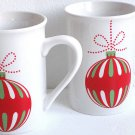 Christmas Ornament Ceramic Coffee Cups Set of Two