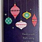 Christmas Ornaments 6 Money Gift Card Holders & Envelopes