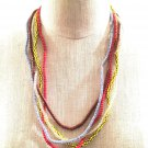 Urban Renewal Recycled 5 Strand Seed Bead Necklace U.O. Boho Hipster Hippie