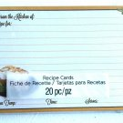 Fall Harvest BakingTheme 4'' x 6'' Recipe Cards 20pk From The Kitchen Of