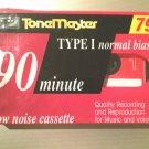90 min. Audio Tape Cassette Blank Media Tonemaster