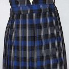 Blue and White Plaid V-Neck Pleated Skirt Jumper Uniform French Toast S-12us