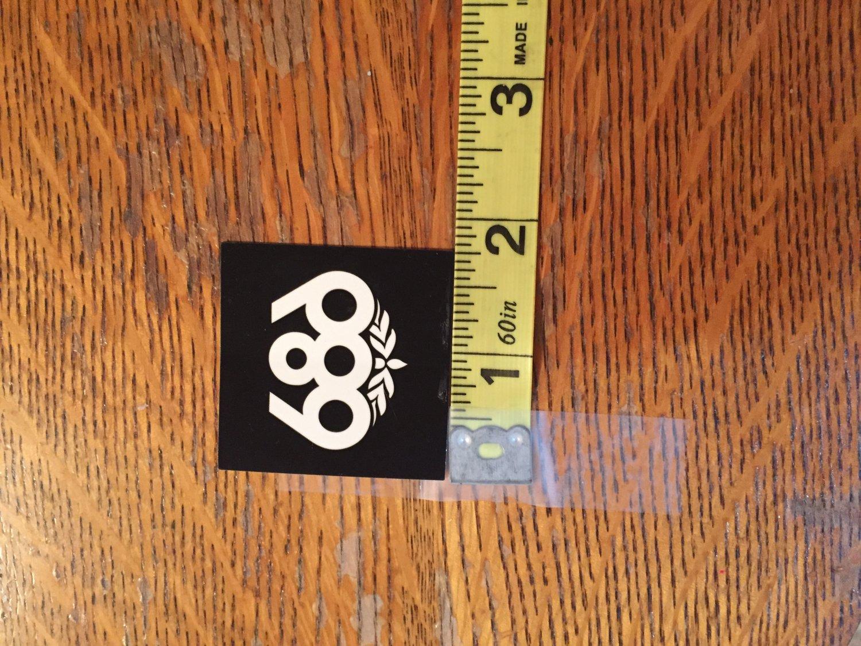 Small Black 686 Snowboard Sticker