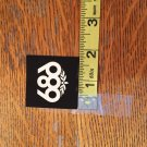 Small Black 686 Snowboard Sticker