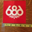 Large 686 Red Snowboard Sticker