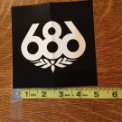 Large Black 686 Snowboard Sticker