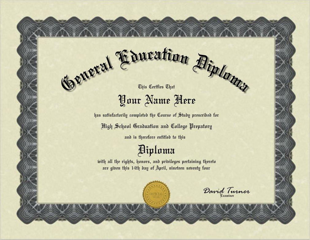 ged diploma fake seal gold gag bordered shipping fun than