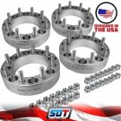 "Billet 2"" Dodge Ram 2500 3500 Silver Wheel Spacers Adapters 4X4 4X2 4PCS"