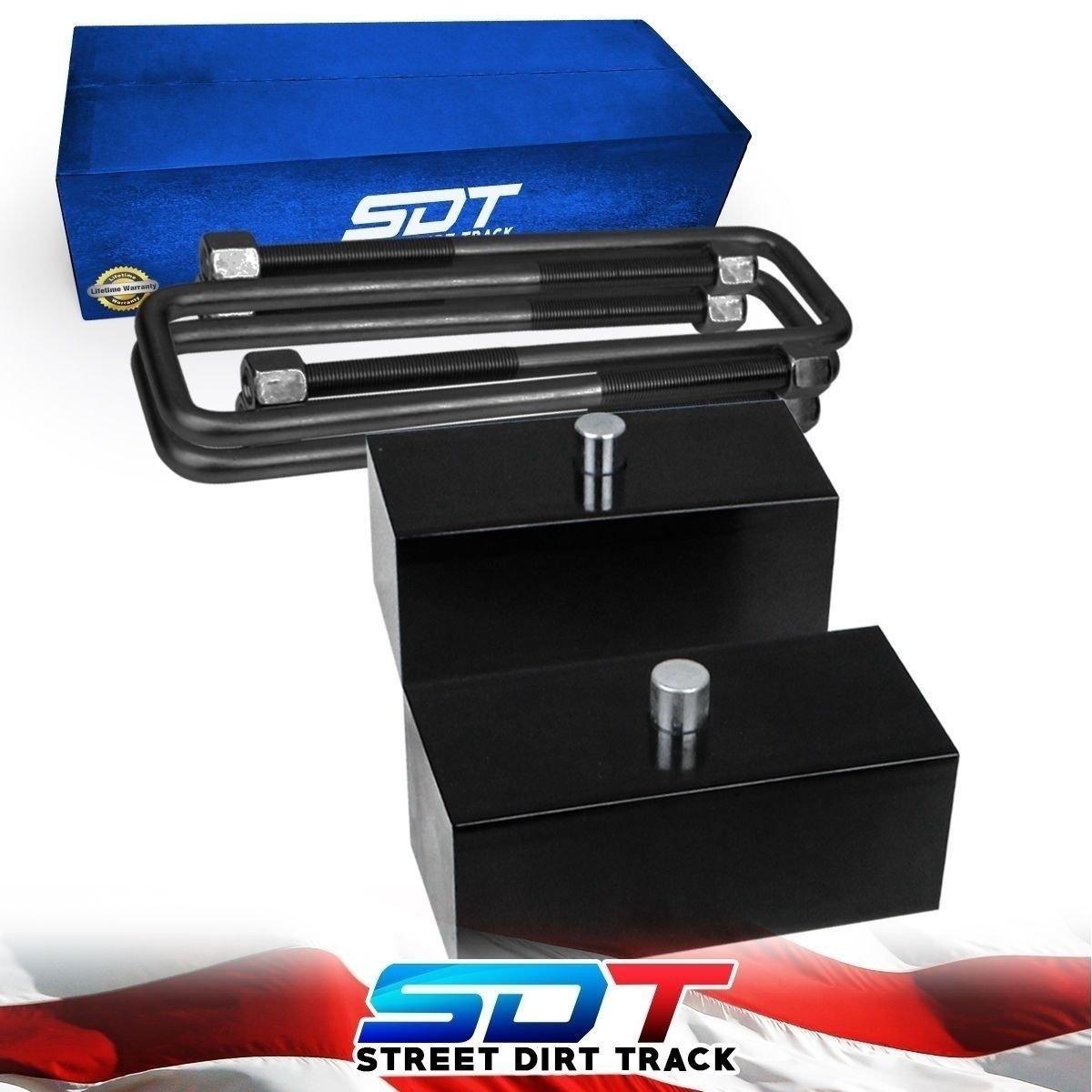 """2"""" Inch Rear Lift Kit Blocks U-Bolts For Toyota Tundra TRD 4x2 4x4 1999-2018"""