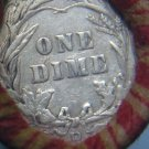 "WHEAT PENNY ROLL,""D"" BARBER DIME&""S"" MERCURY DIME ON ENDS T-1"