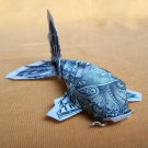 $1 Origami Real Dollar Bill KOI FISH Sculpture 3D Money Figurine Handmade Gift