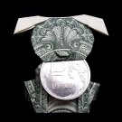 Origami Sculpture PUPPY Dog 3D Gift Money Figurine Handmade Real 1 Dollar Bill