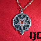 Witches Necklace - Pagan Jewelry - Black Metal Jewelry - Pentagram Medallion - Pentagram Necklace
