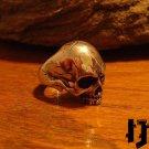 Silver Skull Ring - Black Metal Ring - Black Metal Jewelry - Gothic Ring - Biker Ring - Silver Skull