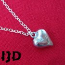 Silver Heart Pendant Necklace - Valentines Day - Gothic Heart - Heart Necklace - Love Pendant